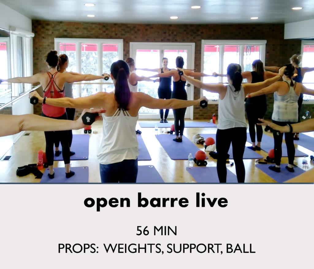 open-barre-live