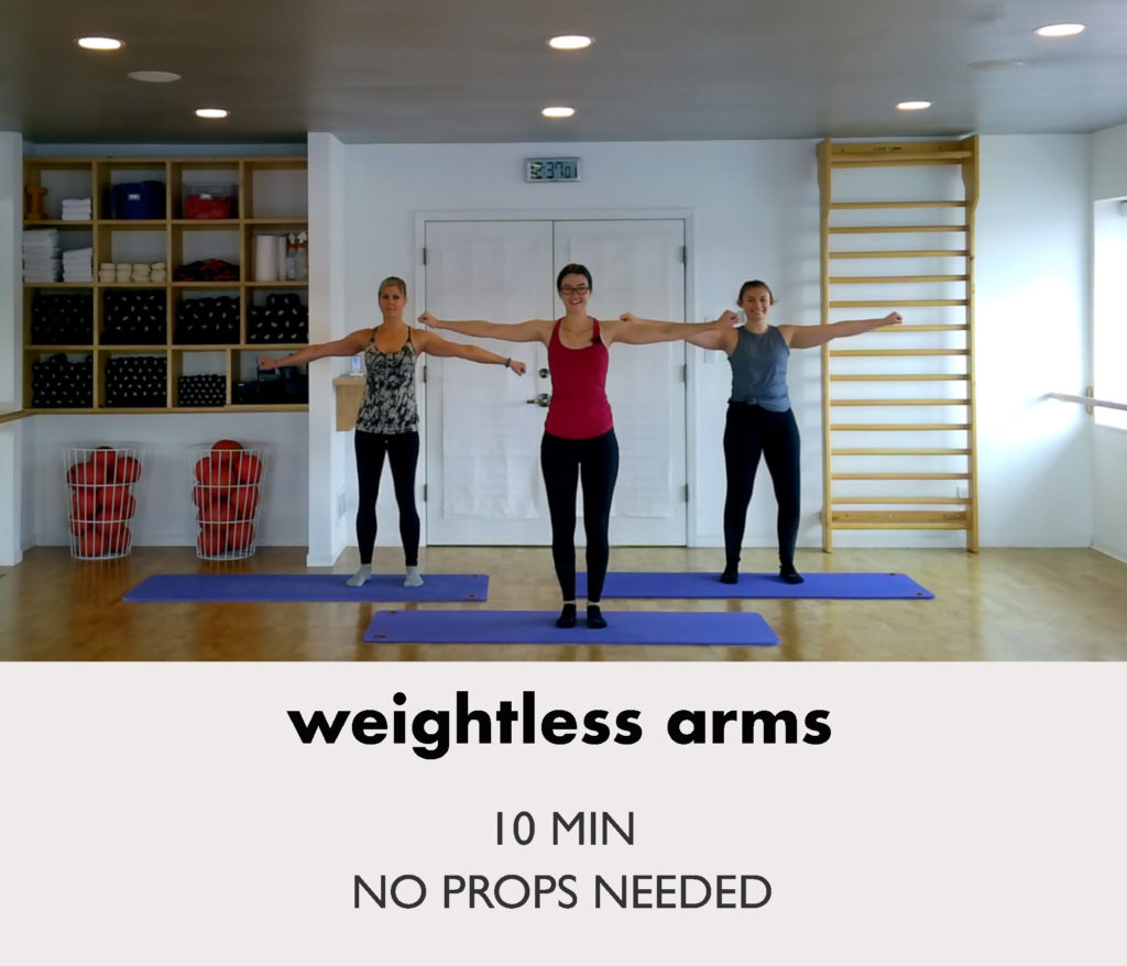 weightless-arms