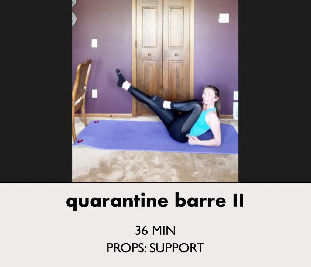 quarantine barre 2